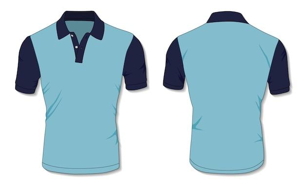 Modelo de camisa pólo azul