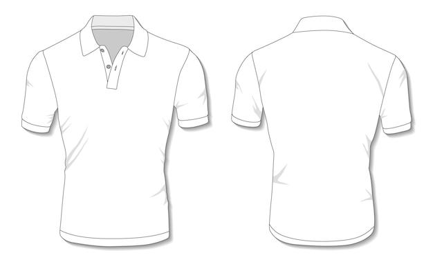 Modelo de camisa pólo branco