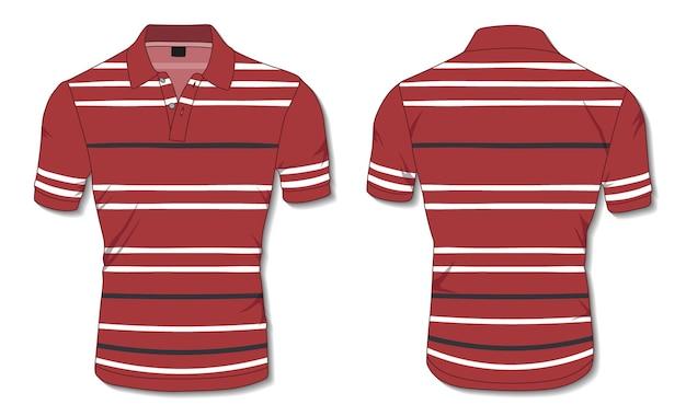 Modelo de camisa polo listrada