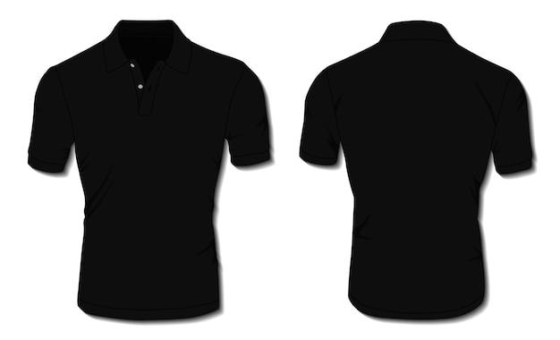Modelo de camisa pólo preta