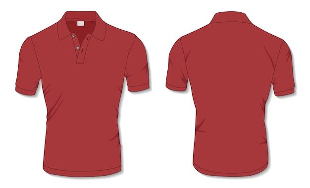 Modelo de camisa polo vermelha