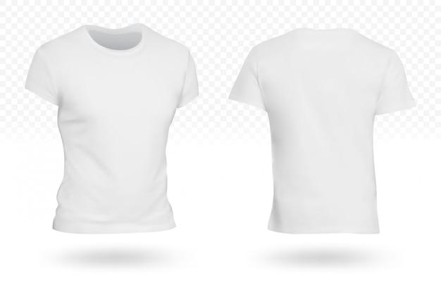 Modelo de camiseta branca em branco isolado
