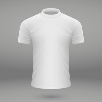 Modelo de camiseta branca em branco