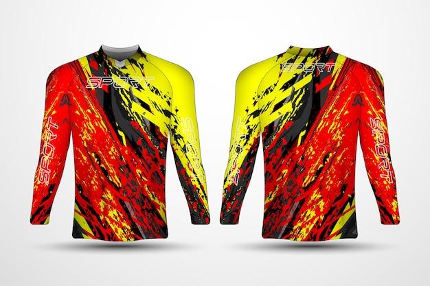 Modelo de camiseta, camiseta de corrida esportiva, camiseta de futebol