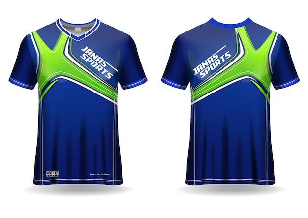 Modelo de camiseta de esporte