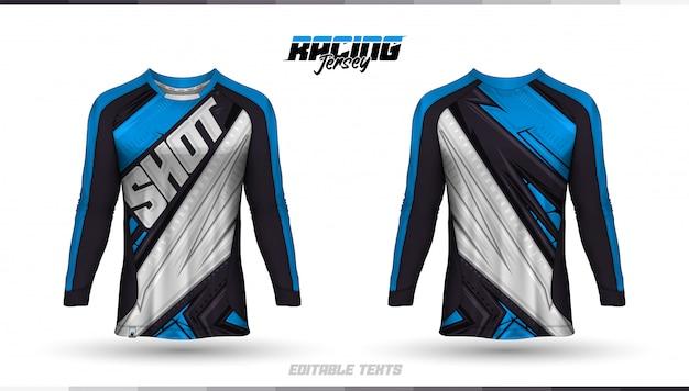 Modelo de camiseta, design de camiseta de corrida, camiseta de futebol