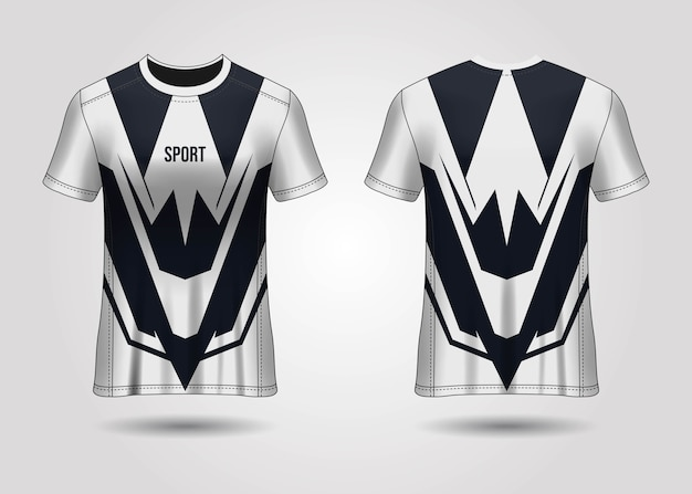Modelo de camiseta esportiva