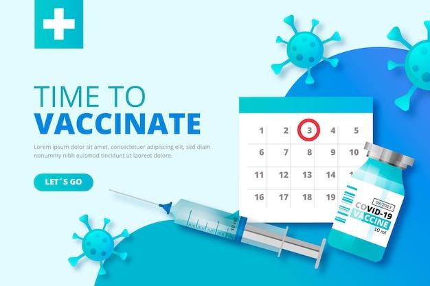 Modelo de campanha de vacina gradiente