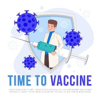 Modelo de campanha de vacinação plana
