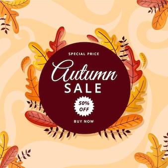 Modelo de campanha de venda outono