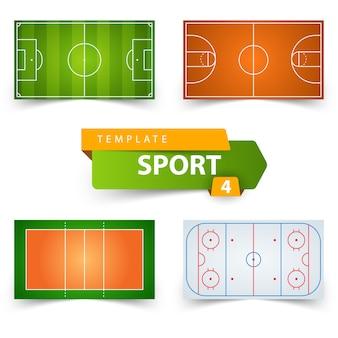 Modelo de campo de esporte.