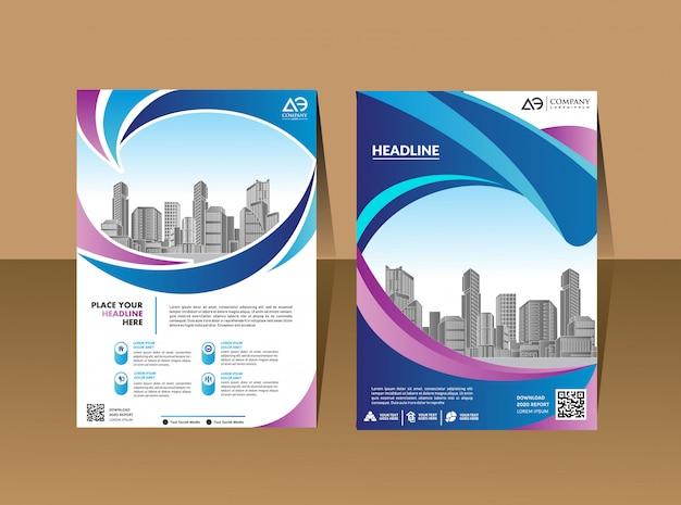 Modelo de capa a4 tamanho design de negócios relatório anual