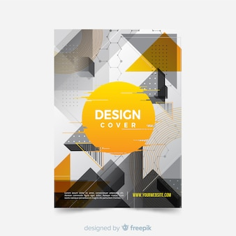 Modelo de capa com design abstrato