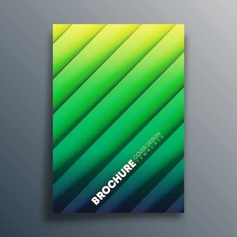 Modelo de capa com linhas diagonais f