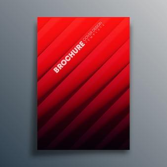 Modelo de capa com linhas diagonais para panfleto, cartaz, folheto, tipografia ou outros produtos de impressão. ilustração