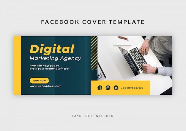 Modelo de capa corporativa abstrata do facebook