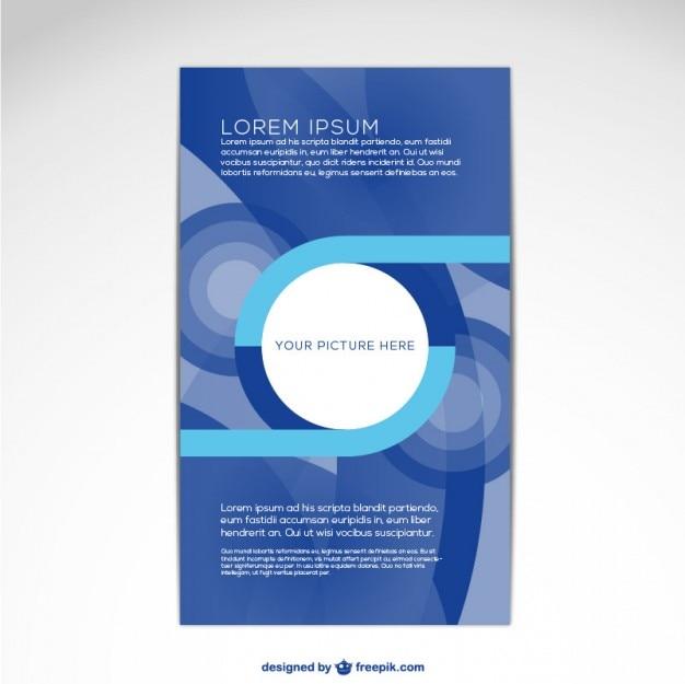 Modelo de capa da brochura