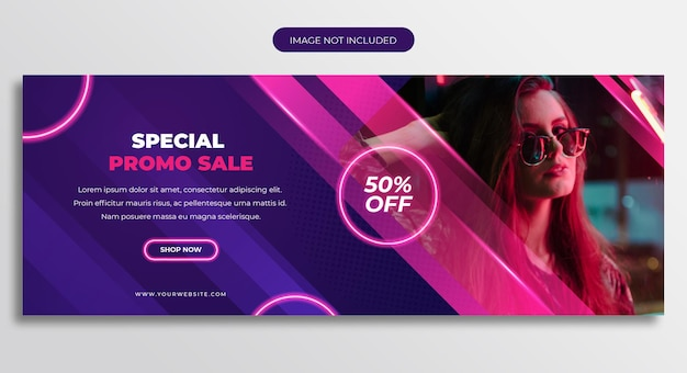 Modelo de capa da linha do tempo do facebook de venda promocional especial