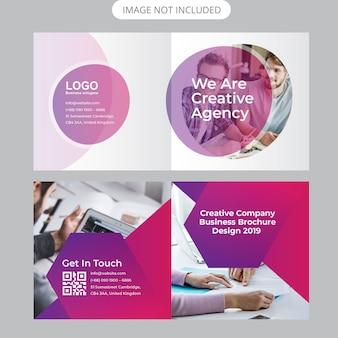 Modelo de capa de brochura de perfil de empresa