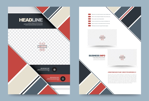 Modelo de capa de brochura