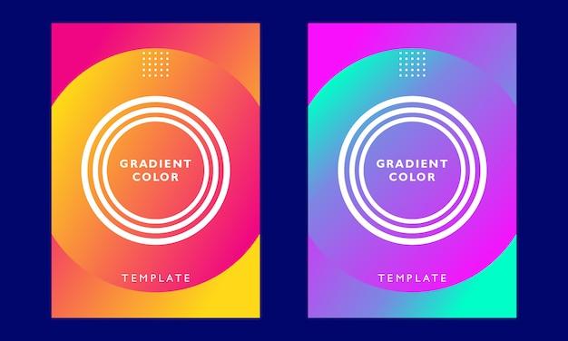 Modelo de capa de cor gradiente