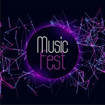 Modelo de capa de evento de festival musical edm dj