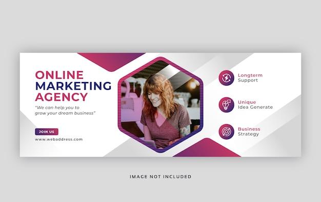 Modelo de capa de facebook de marketing digital de negócios