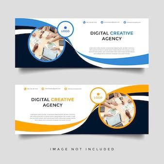 Modelo de capa de facebook de negócios criativos