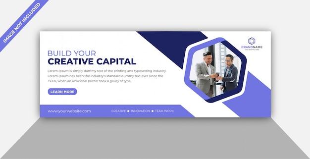 Modelo de capa de facebook de promoção de negócios