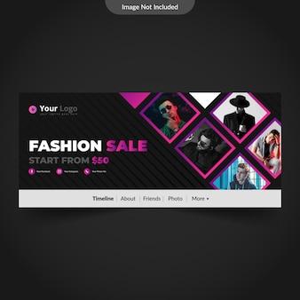 Modelo de capa de linha do facebook de moda ou fotografia