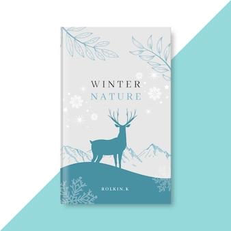Modelo de capa de livro de inverno
