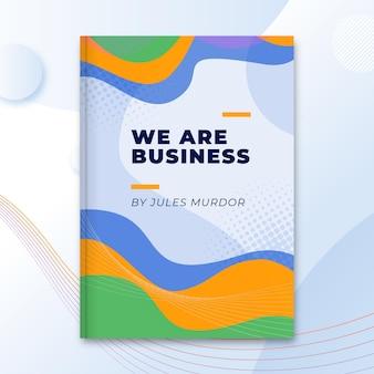 Modelo de capa de livro de negócios abstratos