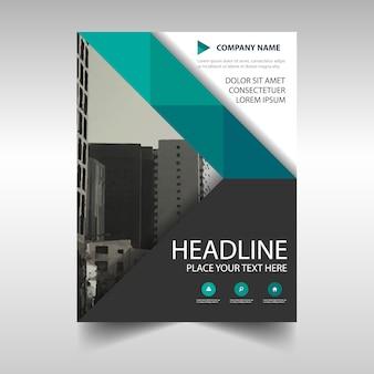 Modelo de capa de livro de relatórios anual criativo verde