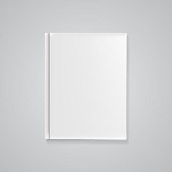 Modelo de capa de livro vazio para o seu texto ou imagens. ilust