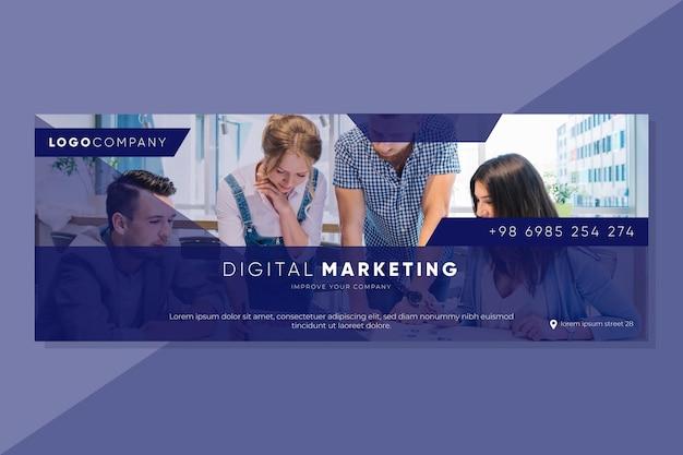Modelo de capa de marketing do facebook