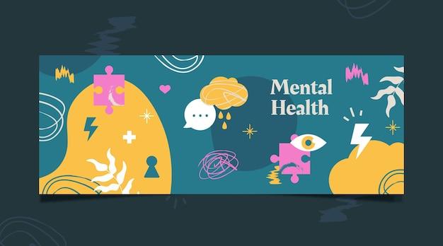 Modelo de capa de mídia social de saúde mental