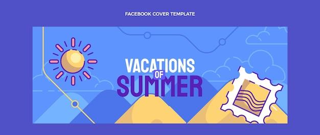 Modelo de capa de mídia social de viagens desenhado à mão