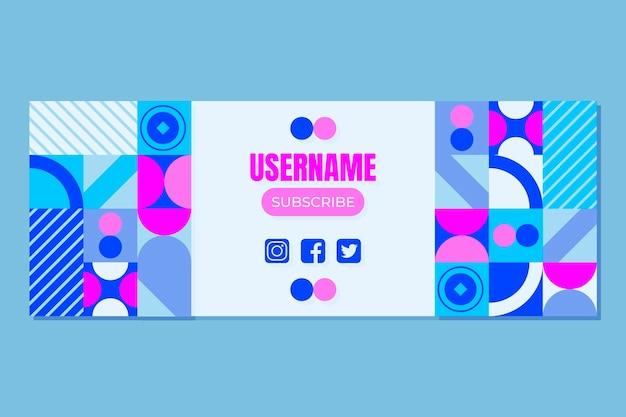Modelo de capa de mídia social em mosaico plano