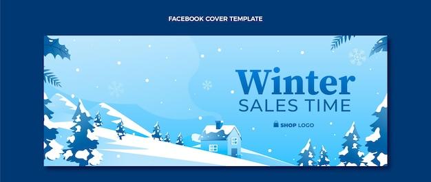 Modelo de capa de mídia social gradiente de inverno
