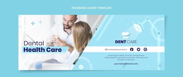 Modelo de capa de mídia social plana médica