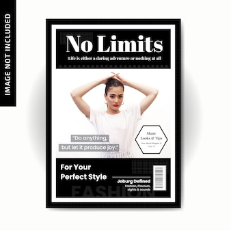 Modelo de capa de moda estilo magazinne