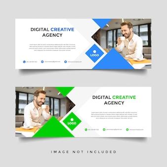 Modelo de capa de negócios corporativos criativos