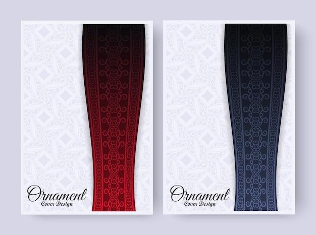 Modelo de capa de padrão de borda de ornamento