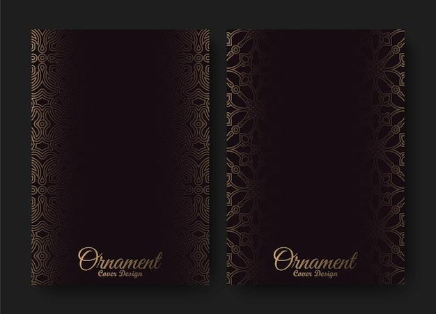 Modelo de capa de padrão de ornamento escuro
