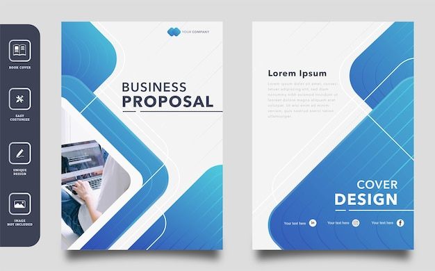 Modelo de capa de proposta de negócio abstrato geométrico