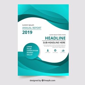Modelo de capa de relatório anual verde