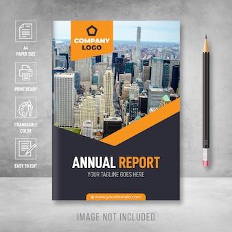 Modelo de capa de relatório anual