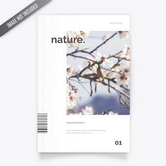 Modelo de capa de revista de natureza