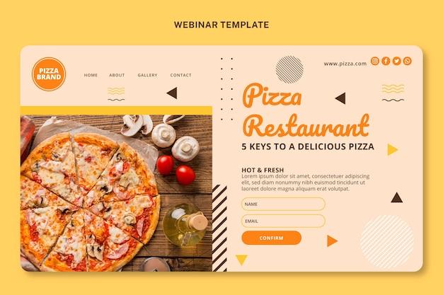 Modelo de capa de webinar de alimentos planos