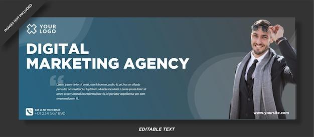 Modelo de capa do facebook da agência digital
